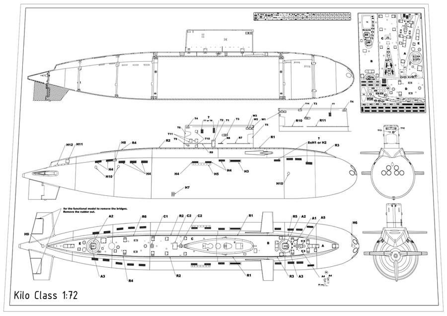 Submarine Kit Kilo 1 72